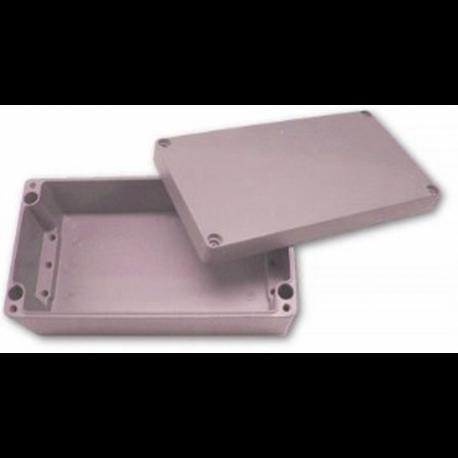 Obudowa uniwersalna pełna - 160 x 160 x 90 , Aluminiowa, szary, IP66, ZAG 11