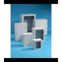 Szafka poliestrowa Pedro wzmocniona włóknem szklanym, drzwi przeszklone, 650x540x260 mm, IP65, VTR05