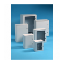 Szafka poliestrowa Pedro wzmocniona włóknem szklanym, drzwi przeszklone, 300x265x165 mm, IP65, VTR01