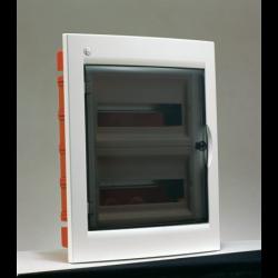 Rozdzielnica elektryczna modułowa 24 (2x12m) 345 x 425 x 109 Poliester Biały RAL 9016 IP 40 Podtynkowa