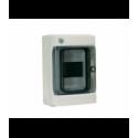 Rozdzielnica elektryczna modułowa 4 (1x4m) 143 x 210 x 100 Poliester Szary RAL 7035 IP 65 Natynkowa