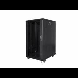 """Szafa Instalacyjna Rack Stojąca 19"""" 22u 600x800 Czarna Lanberg (FLAT Pack)"""