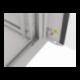 """Szafa Instalacyjna Rack Wisząca 19"""" 15u 570x450 Szybki Montaż Szara Lanberg (FLAT Pack)"""