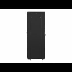 """Szafa Instalacyjna Rack Stojąca 19"""" 42u 600x800 Czarna Drzwi Perforowane Lanberg (FLAT Pack)"""