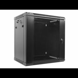 "Szafa Instalacyjna Rack Wisząca 19"" 12u 600x450 Czarna Lanberg (FLAT Pack)"