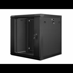 "Szafa Instalacyjna Rack Wisząca 19"" 12u 600x600 Czarna Lanberg (FLAT Pack)"