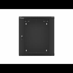 "Szafa Instalacyjna Rack Wisząca 19"" 12u 570x600 Szybki Montaż Czarna Lanberg (FLAT Pack)"