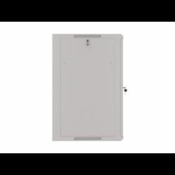"""Szafa Instalacyjna Rack Wisząca 19"""" 18u 570x600 Szybki Montaż Szara Lanberg (FLAT Pack)"""