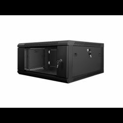 "Szafa Instalacyjna Rack Wisząca 19"" 4u 600x600 Czarna Lanberg (FLAT Pack)"