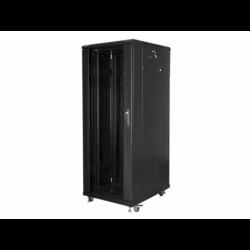 """Szafa Instalacyjna Rack Stojąca 19"""" 32u 600x800 Czarna Lanberg (FLAT Pack)"""