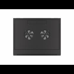 "Szafa Instalacyjna Rack Wisząca 19"" 4u 570x450 Szybki Montaż Czarna Lanberg (FLAT Pack)"