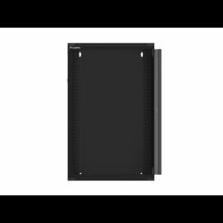 "Szafa Instalacyjna Rack Wisząca 19"" 18u 570x450 Szybki Montaż Czarna Lanberg (FLAT Pack)"
