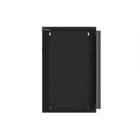 "Szafa Instalacyjna Rack Wisząca 19 18u 570x450 Szybki Montaż Czarna Lanberg (FLAT Pack)"""