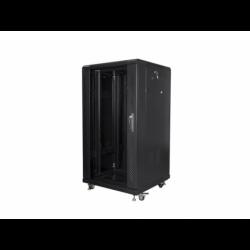 """Szafa Instalacyjna Rack Stojąca 19"""" 22u 600x600 Czarna Lanberg (FLAT Pack)"""