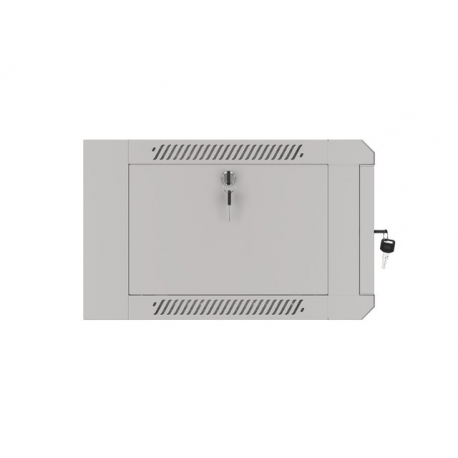 """Szafa Instalacyjna Rack Wisząca 19"""" 4u 570x450 Szybki Montaż Szara Lanberg (FLAT Pack)"""