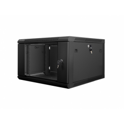 "Szafa Instalacyjna Rack Wisząca 19"" 6u 600x600 Czarna Lanberg (FLAT Pack)"
