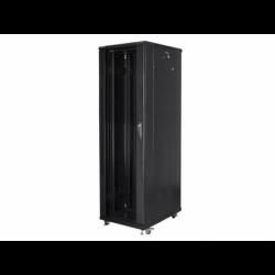 """Szafa Instalacyjna Rack Stojąca 19"""" 42u 600x1000 Czarna Lanberg (FLAT Pack)"""