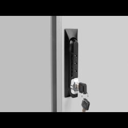"""Szafa Instalacyjna Rack Stojąca 19"""" 27u 600x800 Ip55 Szara Lanberg (ZŁOŻONA)"""