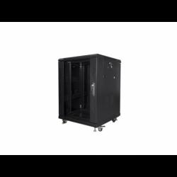 """Szafa Instalacyjna Rack Stojąca 19"""" 15u 600x600 Czarna Lanberg (FLAT Pack)"""