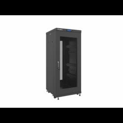 """Szafa Instalacyjna Rack Stojąca 19"""" 27u 600x600 Czarna Drzwi Perforowane Lcd Lanberg (FLAT Pack)"""