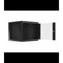 "Szafa Instalacyjna Rack Wisząca 19"" 9u 570x600 Szybki Montaż Czarna Lanberg (FLAT Pack)"