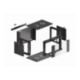 "Szafa Instalacyjna Rack Wisząca 19"" 6u 570x450 Szybki Montaż Czarna Lanberg (FLAT Pack)"