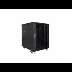 """Szafa Instalacyjna Rack Stojąca 19"""" 15u 600x800 Czarna Lanberg (FLAT Pack)"""