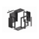 "Szafa Instalacyjna Rack Wisząca 19"" 12u 570x450 Szybki Montaż Czarna Lanberg (FLAT Pack)"