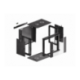 "Szafa Instalacyjna Rack Wisząca 19"" 9u 570x450 Szybki Montaż Czarna Lanberg (FLAT Pack)"