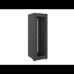 """Szafa Instalacyjna Rack Stojąca 19"""" 42u 800x1000 Czarna Drzwi Perforowane Lcd Lanberg (FLAT Pack)"""