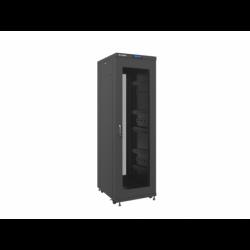 """Szafa Instalacyjna Rack Stojąca 19"""" 37u 600x800 Czarna Drzwi Perforowane Lcd Lanberg (FLAT Pack)"""