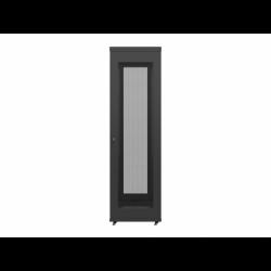"""Szafa Instalacyjna Rack Stojąca 19"""" 42u 600x800 Czarna Drzwi Perforowane Lcd Lanberg (FLAT Pack)"""