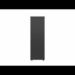 """Szafa Instalacyjna Rack Stojąca 19"""" 37u 600x600 Czarna Drzwi Szklane Lcd Lanberg (FLAT Pack)"""