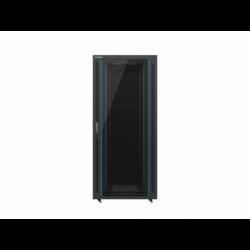 """Szafa Instalacyjna Rack Stojąca 19"""" 37u 800x1000 Czarna Drzwi Szklane Lanberg (FLAT Pack)"""