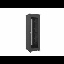 """Szafa Instalacyjna Rack Stojąca 19"""" 37u 600x600 Czarna Drzwi Perforowane Lanberg (FLAT Pack)"""