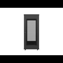 """Szafa Instalacyjna Rack Stojąca 19"""" 27u 600x600 Czarna Drzwi Perforowane Lanberg (FLAT Pack)"""