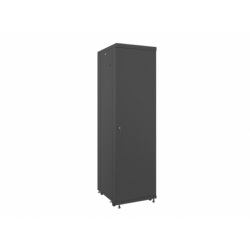 """Szafa Instalacyjna Rack Stojąca 19"""" 42u 600x800 Czarna Drzwi Szklane Lanberg (FLAT Pack)"""