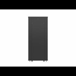 """Szafa Instalacyjna Rack Stojąca 19"""" 37u 600x800 Czarna Drzwi Perforowane Lanberg (FLAT Pack)"""
