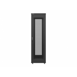 """Szafa Instalacyjna Rack Stojąca 19"""" 42u 800x1000 Czarna Drzwi Perforowane Lanberg (FLAT Pack)"""