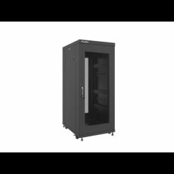 """Szafa Instalacyjna Rack Stojąca 19"""" 27u 600x800 Czarna Drzwi Perforowane Lanberg (FLAT Pack)"""