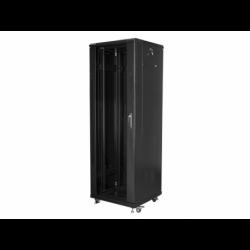 """Szafa Instalacyjna Rack Stojąca 19"""" 37u 600x600 Czarna Lanberg (FLAT Pack)"""