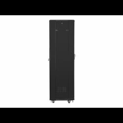 """Szafa Instalacyjna Rack Stojąca 19"""" 42u 600x600 Czarna Lanberg (FLAT Pack)"""