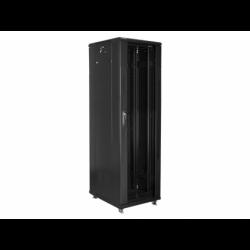 """Szafa Instalacyjna Rack Stojąca 19"""" 42u 600x800 Czarna Lanberg (FLAT Pack)"""