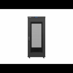"""Szafa Instalacyjna Rack Stojąca 19"""" 27u 600x800 Czarna Drzwi Perforowane Lcd Lanberg (FLAT Pack)"""