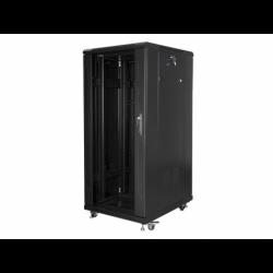 """Szafa Instalacyjna Rack Stojąca 19"""" 27u 600x800 Czarna Lanberg (FLAT Pack)"""