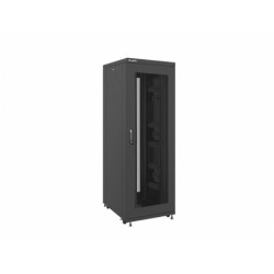 """Szafa Instalacyjna Rack Stojąca 19"""" 37u 800x1000 Czarna Drzwi Perforowane Lanberg (FLAT Pack)"""