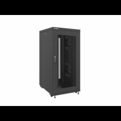 """Szafa Instalacyjna Rack Stojąca 19"""" 27u 800x1000 Czarna Drzwi Perforowane Lanberg (FLAT Pack)"""