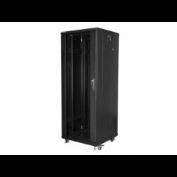 """Szafa Instalacyjna Rack Stojąca 19"""" 32u 600x600 Czarna Lanberg (FLAT Pack)"""