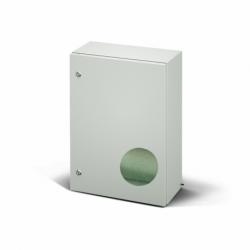 Szafka stalowa ETA EC IP66 z płytą montażową EC060630.E - 600 x 600 x 300. Wykonanie EMC.