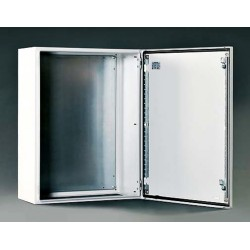 Szafka stalowa ETA IP66 z płytą montażową – 400 x 300 x 200